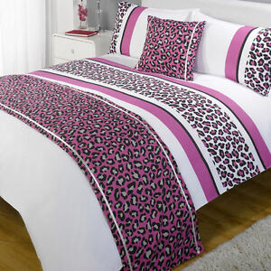 Leopard-Pink-Purple-White-Patterned-Bed-in-a-Bag-Duvet-Quilt-Cover-Bedding-Set
