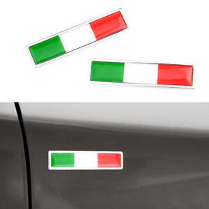 2-Italie-drapeau-italien-Logo-embleme-badge-voiture-moto-deco-decors-Autocollant