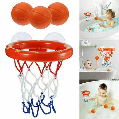 1 Satz Bad Spielzeug Basketballkorb Saugnapf Mini Geschenk für Baby Kinder V1O6