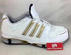 the best attitude e2d67 7b92b Image is loading New-adidas-Originals-A3-TWINSTRIKE-SHOES-White-Gold-
