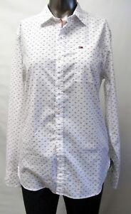 Tommy Hilfiger Neu Mit Tags Damen Hemd Bluse Weiss Blau Gepunktet M