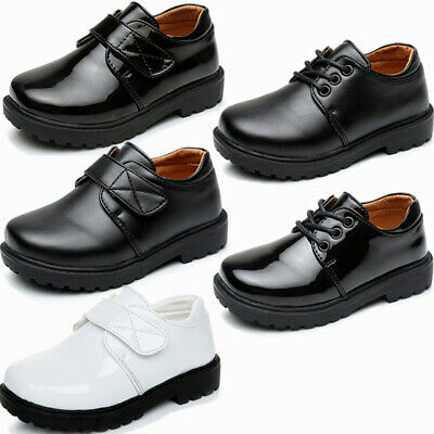 £45 NEW FRONT Older Boys Junior Leather Lace Up School Shoes Sz UK 1-6 RRP