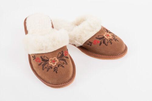 Lady Women Sheepskin Suede Leather Slippers Wool Shoes Size 3 4 5 6 7 8Flip-Flop