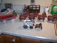 Cast Iron Repro lot of 3 with Budweiser? Beer Wagon Pepsi Truck & Calliope