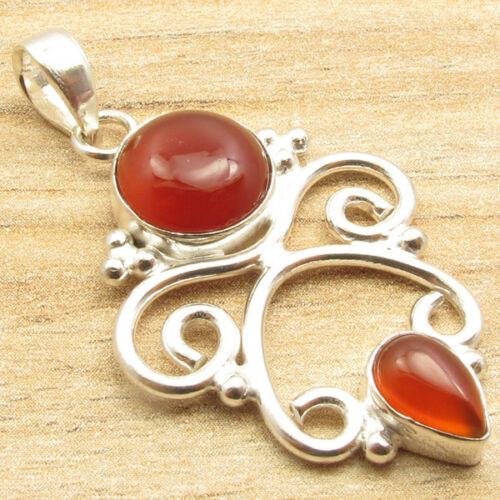 925 Silver Plated Genuine Stones Antique Style Pendant Women/'s Jewelry