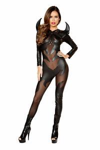 Sexy-Women-039-s-Demon-Evil-Costume-Evil-Devil-Catsuit-Cosplay-Halloween-Costume