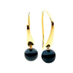 7mm-Black-Japanese-Akoya-Saltwater-Pearl-Earrings-Pacific-Pearls-Gifts-For-Wife