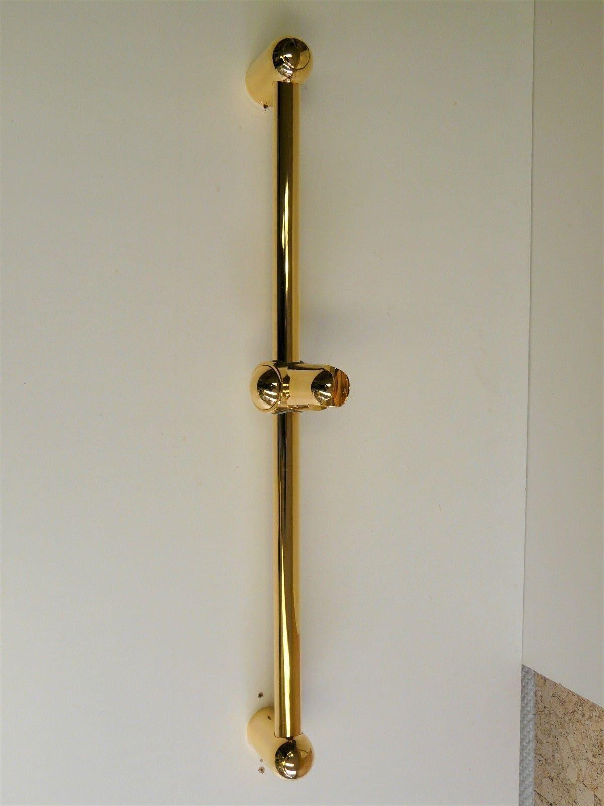 Barra de ducha oro (24 Quilate ), 60cm, barra de ducha, alcachofa, ducha, barra