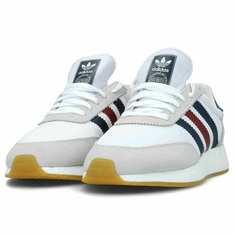 Adidas Original Mens I - 5923 Zapatos blancoo Azul Marino Borgoña