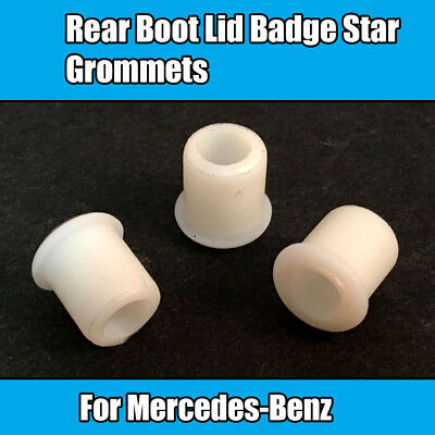 3x For Mercedes-Benz Rear Boot Lid Badge Star Grommets White Plastic A2019972281