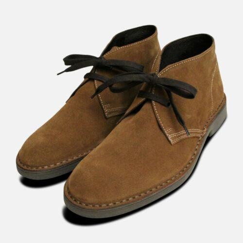 2 Brown Italian Siena Desert Suede Mens Boots p5RwBqdW