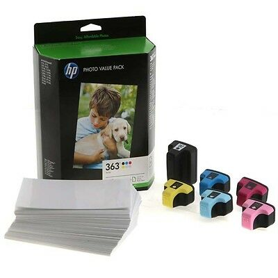 HP 363 PHOTO PACK FOR PHOTOSMART PRINTERS 6 CARTRIDGES + PHOTO PAPER (Q7966EE)