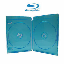 15 NEW PREMIUM Blu-Ray CD / DVD Video Case, DOUBLE (holds 2 Discs), 12mm