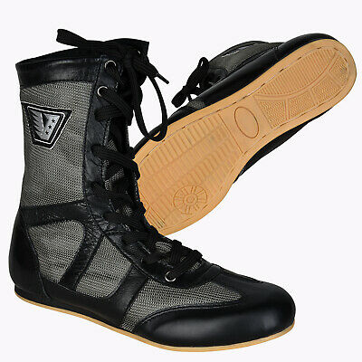 VELO Leather Boxing Shoes Professional Boxer Boots Suede Leather  Wrestling Shoe