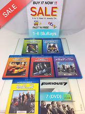 The Fast and the Furious 1-6 (Blu Ray) Furious 7 (DVD) ~ LOT OF BLU RAY AND DVD
