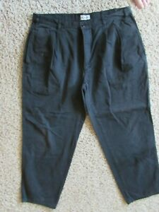 Honors Para Hombre Pantalones Pantalones Sueltos Negro 40 X 30 Ebay