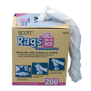 Kimberly Clark 75260 Scott Rags In A Box 10x 14- 200 Count ...