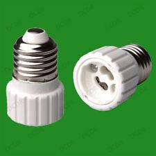 10x Edison Screw ES E27 To GU10 Light Bulb Adaptor Lamp Socket Converter Holder