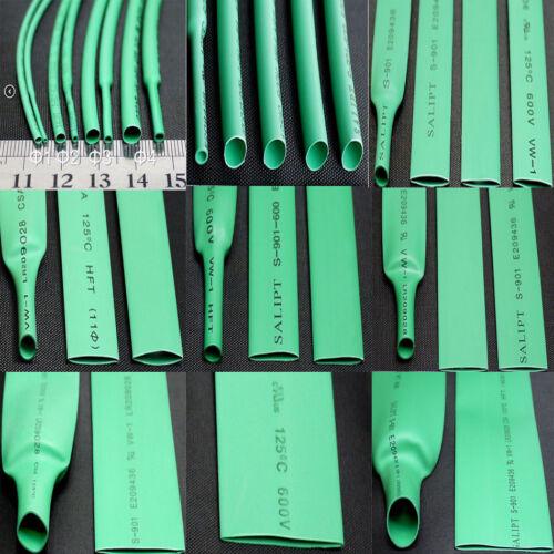 0.6mm-50mm 2:1 Green Heat Shrink Shrinkable Tube Tubing Heatshrink Wire Sleeving