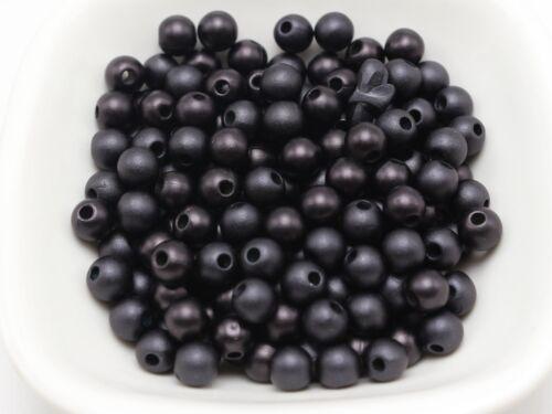 "1//4/"" 500 Matte Black Acrylic Pearl Round Beads Imitation Pearl 6mm"