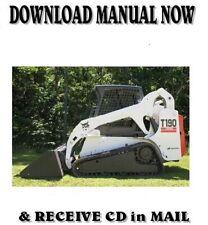 Bobcat T190 Turbo G Series Skid Steer Loader Factory Service Repair Manual On Cd