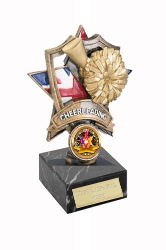 """* 6/""""  15.5cm Cheerleader Award Trophy  /"""" FREE ENGRAVING/"""""""