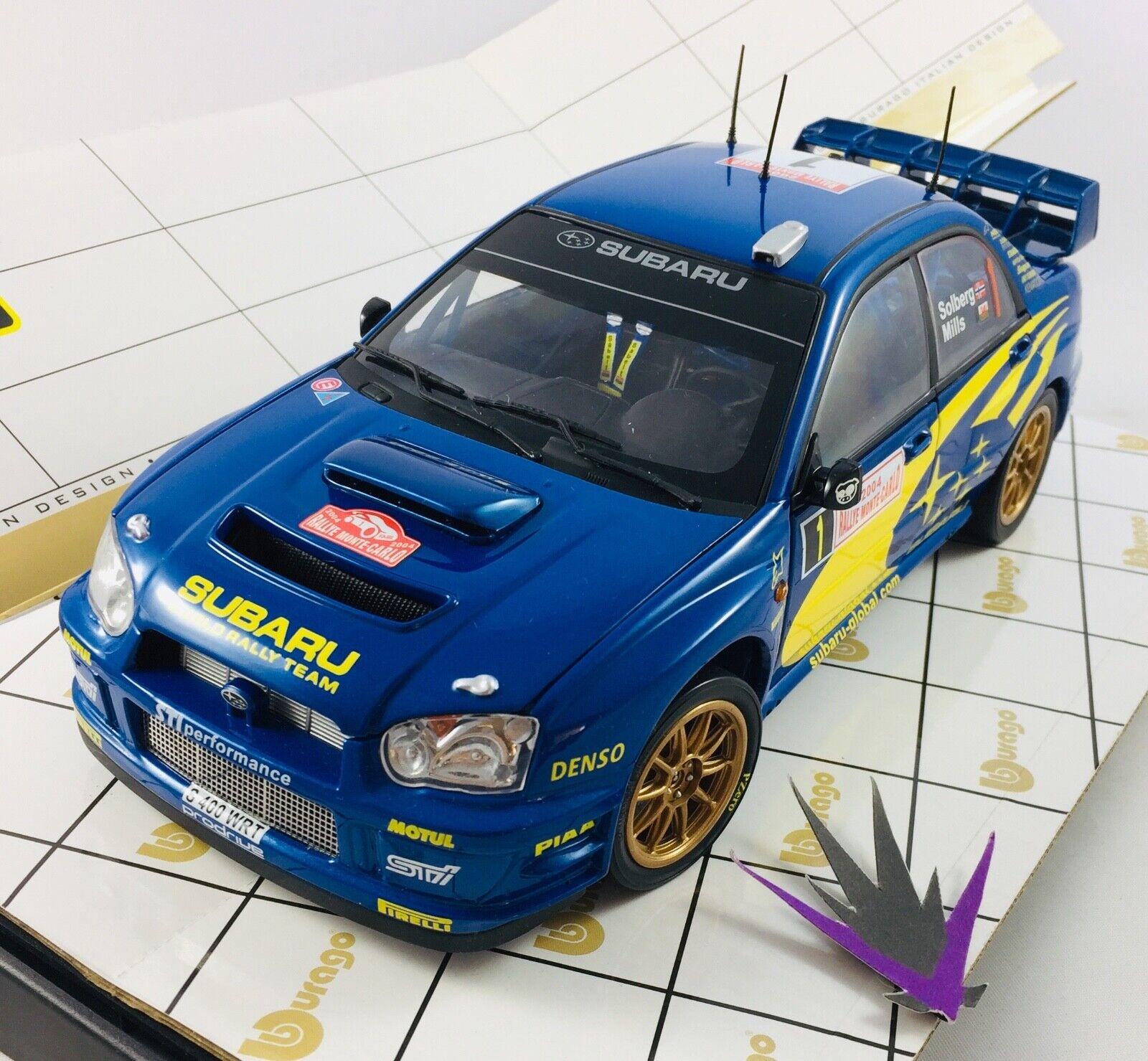 Bburago Subaru Impreza WRC rallye Monte billo 1  18 med låda