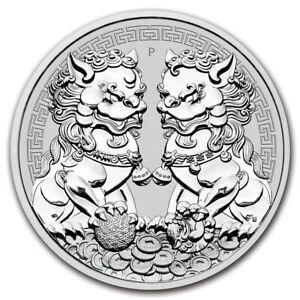 AUSTRALIE-1-Dollar-Argent-1-Once-Lions-Double-Pixiu-2020