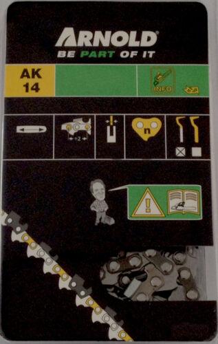 Arnold Sägekette für Motorsäge POULAN 2250  Schwert 35 cm 3//8 1,3