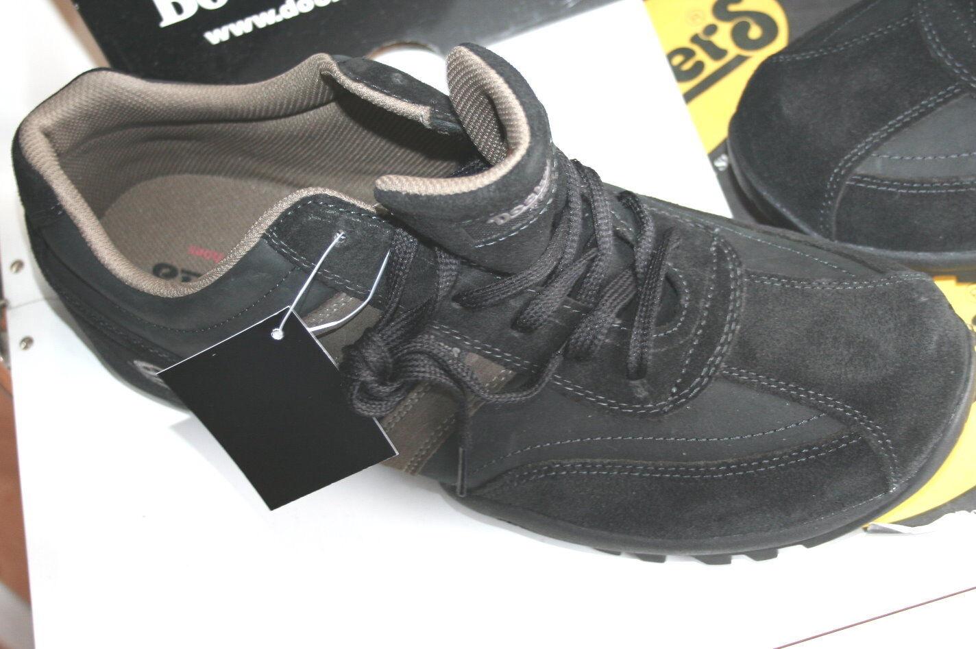 DOCKERS   BAVARIANSTYLE MOKASSIN  Neu  black/asfalt   echt Leder 46 30b280