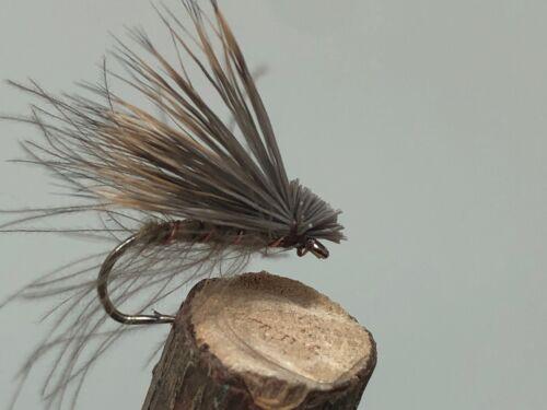 3 x Olive Elk Hair Caddis Size 12.