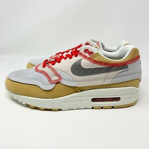 Details about Nike Air Max 1 Premium SE Inside Out Club Gold Black 858876 713 Men's Size 7.5