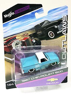 1987 Chevrolet 1500 Maisto Outlaws Edition 1//64 Scale Diecast Car VHTF