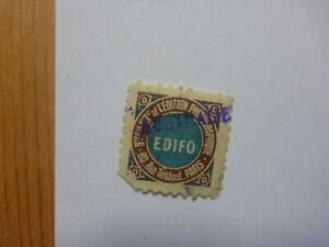OLD-SMALL-MUSIC-LABEL-COPYRIGHT-ROYALTY-STAMP-EDIFO