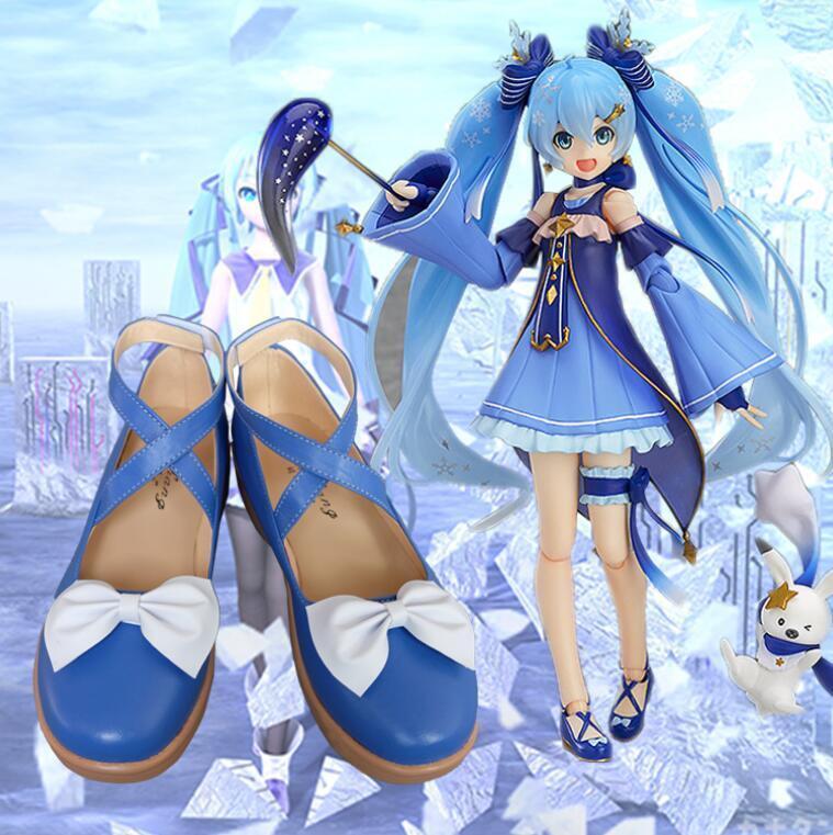 Cosplay Schuhe Vocaloid 2017 Schnee Hatsune Miku Stern Schnee Prinzessin Lolita