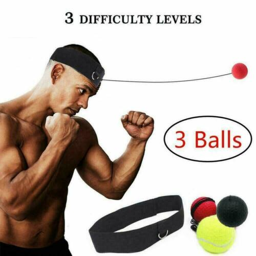 Boxing Rubber Punch Exercise Fight Ball With Head Band Training For Reflex R2F4
