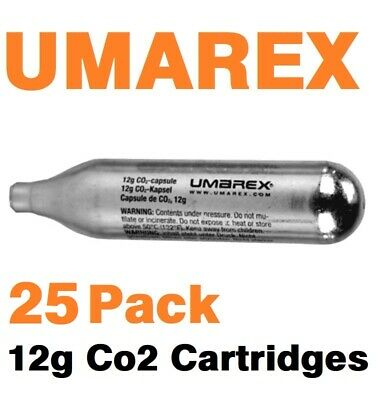 25 Pack 12 Gram CO2 Cartridge