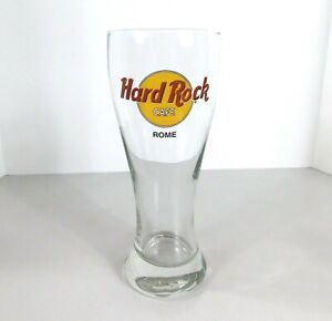 Hard-Rock-Cafe-Rome-Italy-Beer-Drinking-Pilsner-Glass-20-oz-Tall-8-1-2-034