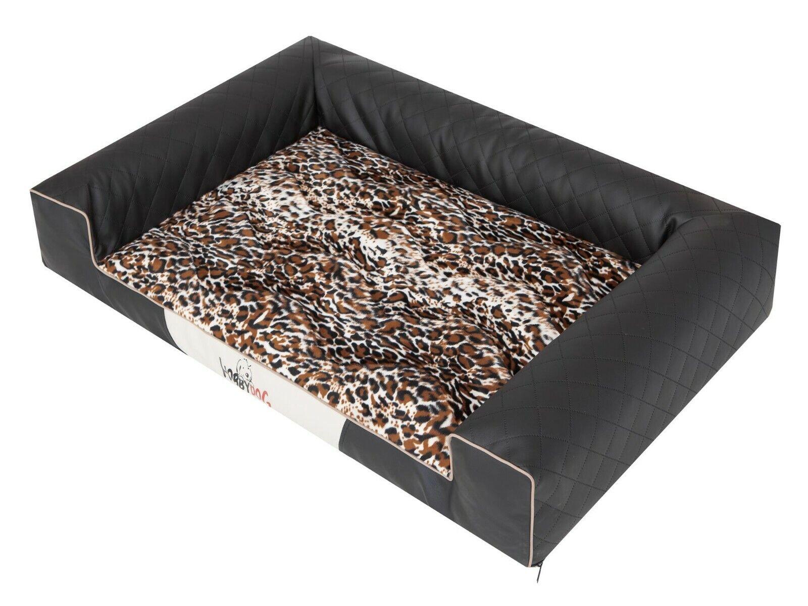 Letto per cani Victoria Lux dormire dormire dormire cani spazio spazio PATTERN NERO XXL 118x78cm 22dc28
