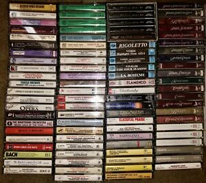 LOT-OF-90-RARE-CLASSICAL-CASSETTE-TAPES-MOZART-Beethoven-Opera-BACH-MORE-LOOK
