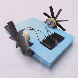Puzzle-Solar-Powered-Boat-Rowing-Toy-for-Children-Science-Model-DIY-kit-Boat