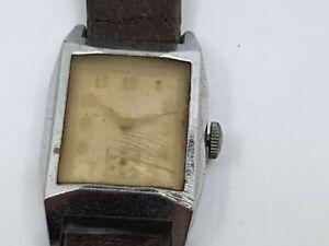 Vintage-Mechanical-Gentleman-039-s-Wrist-Watch-For-Repair