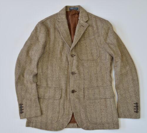 """New Polo Ralph Lauren Men/""""s Linen//Silk//Wool Herringbone Blazer Jacket Sport Coat"""