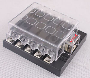 dc32v 10 way terminals circuit car auto blade fuse box. Black Bedroom Furniture Sets. Home Design Ideas