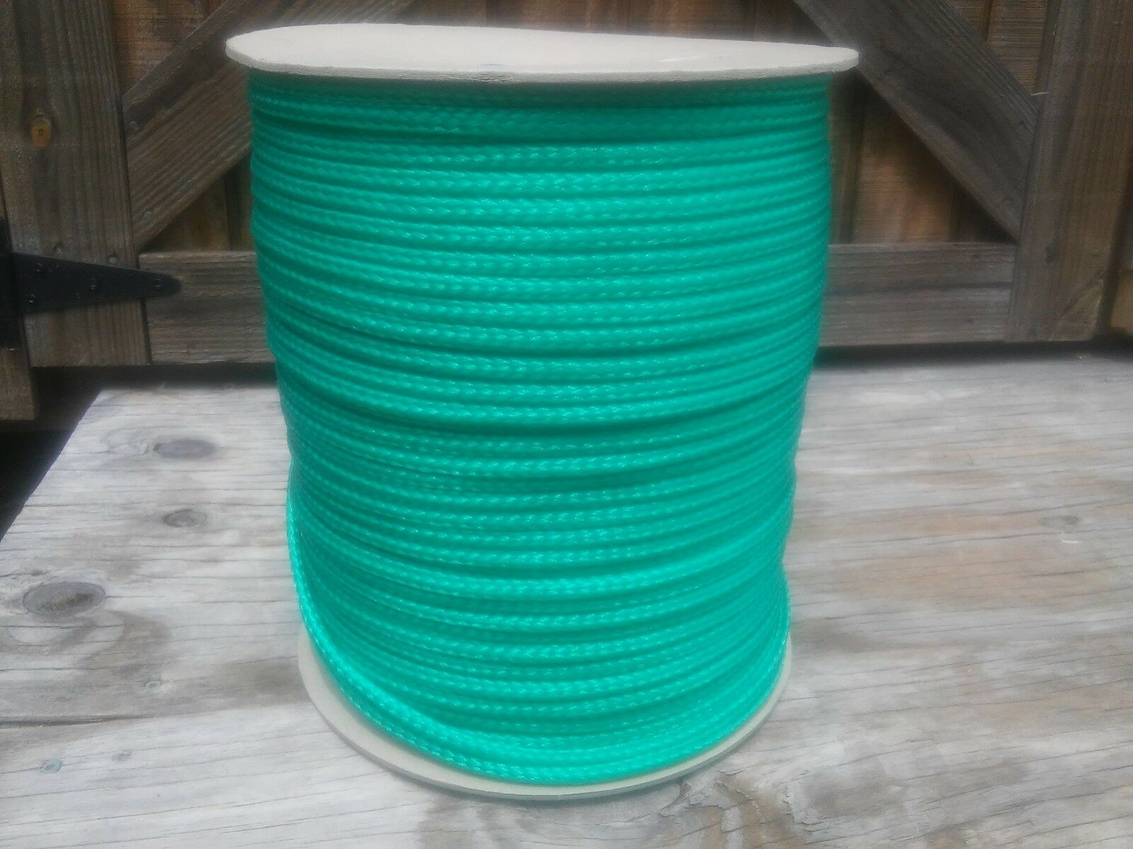 5 16  x 900 ft. spool of Hollow Braid Polypropylene Rope. Bright Green