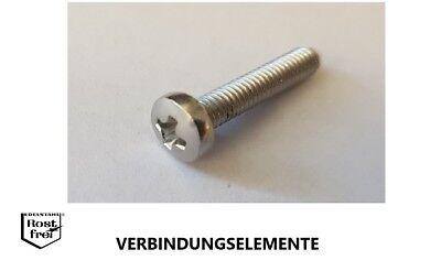 8 St/ück Linsenschrauben M1,6 X 10 mit KreuzschlitzZ DIN 7985 Edelstahl A2