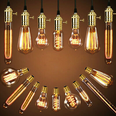 Edison Industrial Vintage Antique E27 Light Bulb Loop Carbon Filament Light Bulb