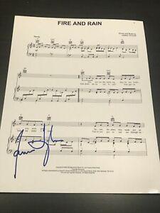 JAMES-TAYLOR-SIGNED-AUTOGRAPH-SHEET-MUSIC-CAROLINA-ON-MY-MIND-FIRE-AND-RAIN-D
