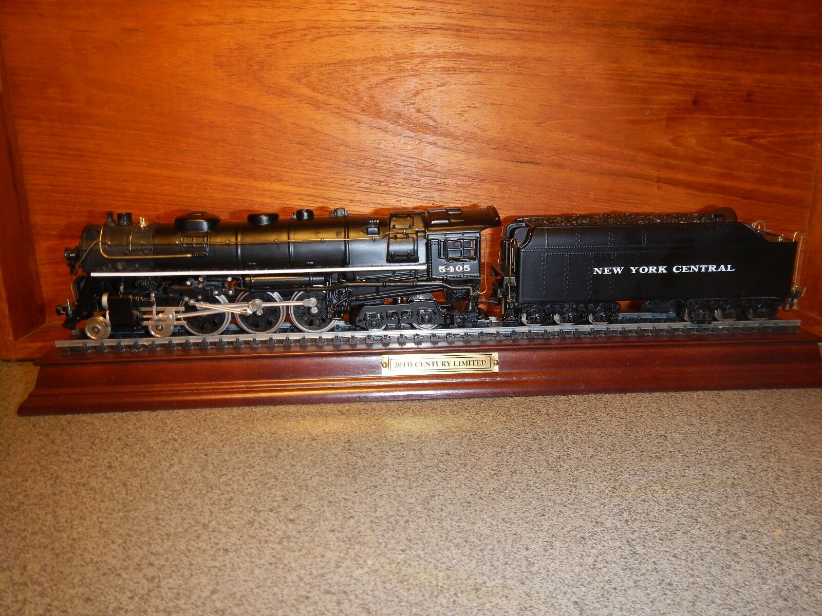 "FRANKLIN MINT HUDSON HO LOCOMOTIVE NYC ""20TH CENTURY LIMITED"" PRECISION MODEL"