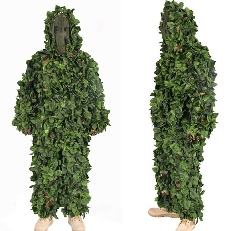 Jungle Camo Ghillie Suits camuflaje ropa de caza francotirador táctica militar